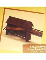 Ho Train Building Kit Operating Log Loader