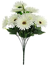 Fourwalls Gerbera Bunch (10 Flowers, White)