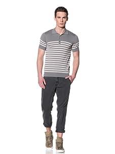 Antony Morato Men's Short Sleeve Stripe Polo (Steel Grey)