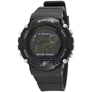 Sonata Digital Grey Dial Men's Watch - NG7982PP03J