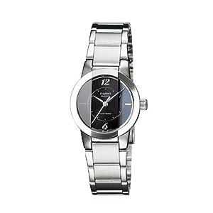 Casio Ladies Watch LTP-1230D-1CDF, black, silver