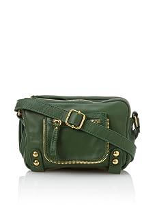 Linea Pelle Women's Dylan Amazing Triple Zip Shoulder Bag (Emerald)