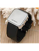 AQY(TM) Luxury Mirror LED Digital Date Jelly Silicon Unisex Casual Sport Wrist Watch