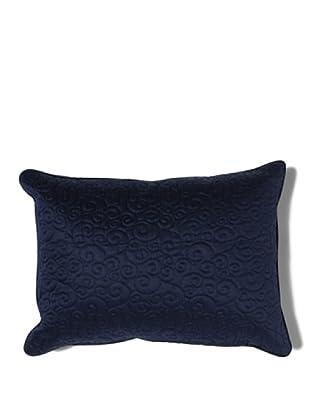 HomeTrends Cojín Pearl Ricamato (Azul)