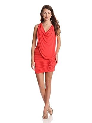 BCBGMaxazria Vestido Wanda (Rojo)