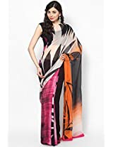 Chiffon Orange Saree Satya Paul