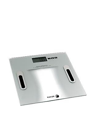 Fagor BB-350 BF - Báscula de baño analizadora de masa corporal, gran pantalla LCD, hasta 150 kg