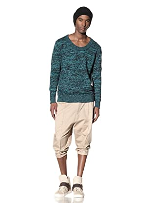 B: Scott Men's Gradient Mélange Sweater (Black/Green)