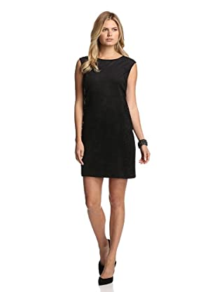 Julia Jordan Women's Perforated Faux Suede Dress (Black)
