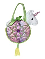 Aurora World Fancy Pals Toy Pet Carrier Plush Purse, Pink Dreams