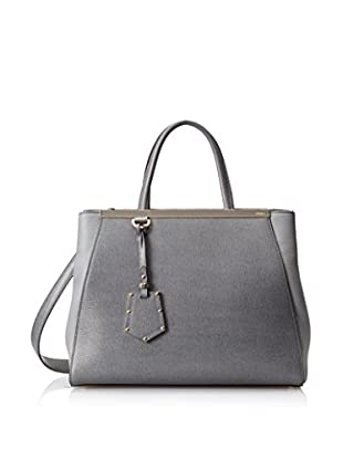 Fendi Women's 2 Jours Tote, Grey