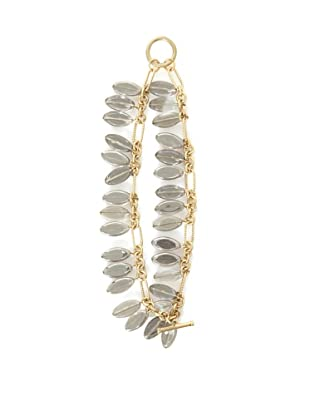 Danielle Stevens Clear Crystal Teardrop Bracelet