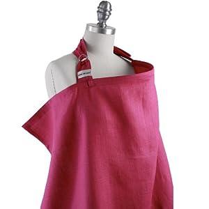 Simple by Bebe Au Lait Organic Nursing Cover Raspberry