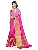 Meghdoot Artificial Silk Saree (ETHNIC_MT1400_SHADEDPINK Woven Pink Colour Sari)