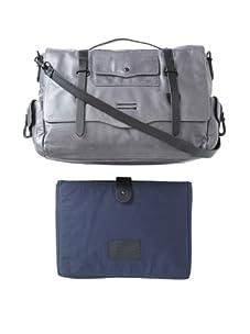 Ben Minkoff Nikki Leather Messenger Bag (Grey)