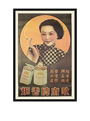 Chinese Vintage Embassy Virginia Cigarettes Smoking Poster, Multi