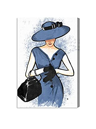 Oliver Gal Lady In Blue Canvas Art, Multi