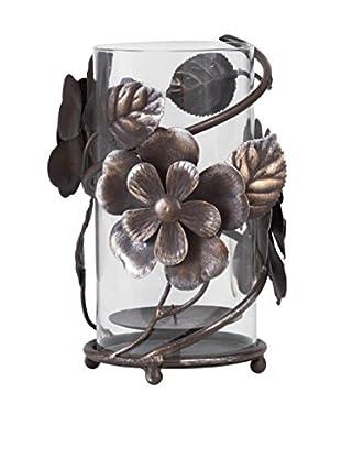 Mikasa Rustic Flowers Hurricane, Brown