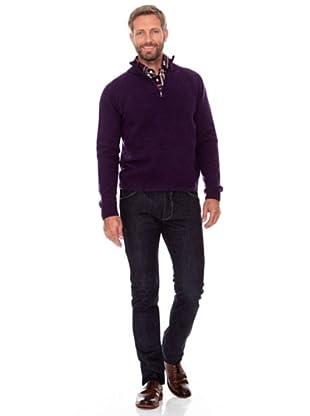 Cortefiel Zip-Pullover (Lila)