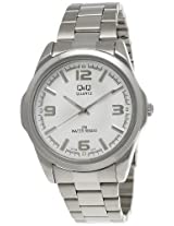 Q&Q Standard Analog White Dial Men's Watch - KV98J204Y