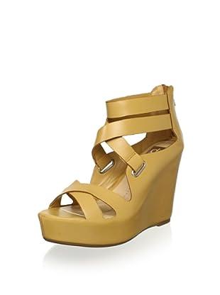 DV by Dolce Vita Women's Jury Wedge Sandal (Nude Leather)