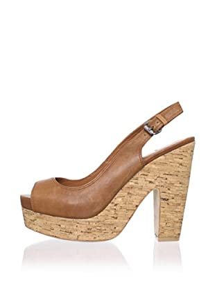 Dolce Vita Women's Maude Platform Sandal (Tan Leather)