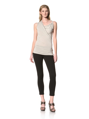 RICK OWENS Women's Twist Shoulder Sleeveless Top (Pearl)
