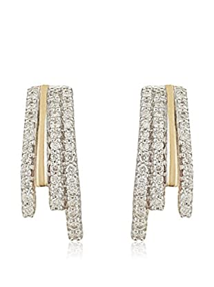 Bentelli Pendientes 9K Gold 0.15Ct Diamonds Oro Amarillo