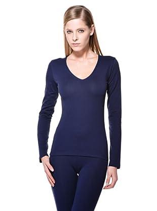 Cotonella Camiseta Cuello V (Azul)