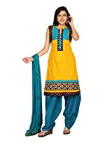 Sanskruti Creations Women's Salwar Suit (SC-263_Yellow_X-Large)