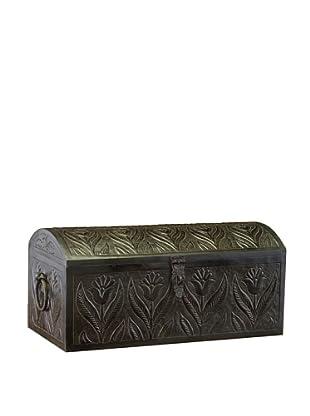 John-Richard Collection Embossed Metal Domed Box