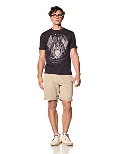 Under 2 Flags Men's Devil Whiskey Tee (India Ink)