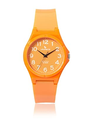 Laurens VQ88J905Y Orange Rubber Water Resistant Watch