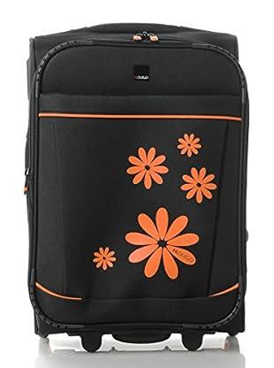 H.Due.O Trolley Hippy Flowers Arancio