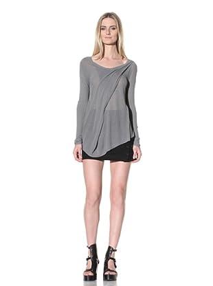 Ann Demeulemeester Women's Draped Knit Sweater (Pearl)