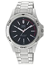 Q&Q Analog Black Dial Men's Watch - Q472N202Y