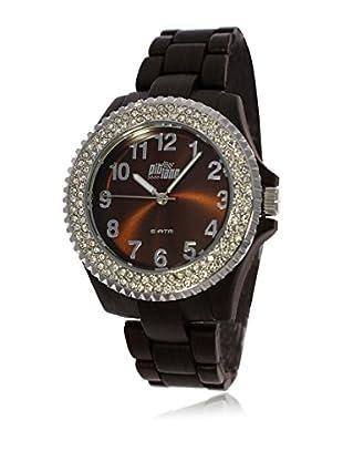 Pit Lane Uhr mit Miyota Uhrwerk Pl-4002-2 schwarz 40 mm