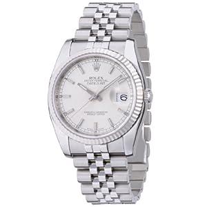 【クリックで詳細表示】[ロレックス]ROLEX デイトジャスト シルバー文字盤 バーインデックス WG/SSコンビ5列 腕時計 Ref.116234 メンズ 【並行輸入品】: 腕時計通販