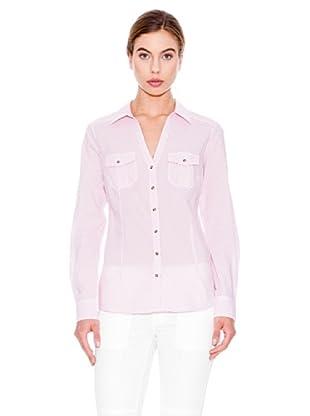 Mango Camisa Topito (Blanco / Rosa)