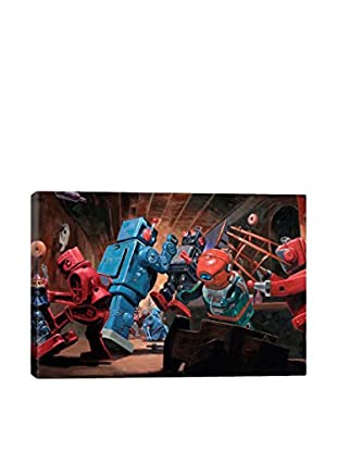 Malfunction Mute Gallery Wrapped Canvas Print
