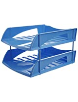 """Solo TR- 312 """"Delux"""" Paper and File Tray (2 Pcs. ) XL - Blue"""