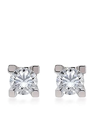 Divas Diamond Pendientes 0,30 ct Diamond Gold Solitaire Plateado