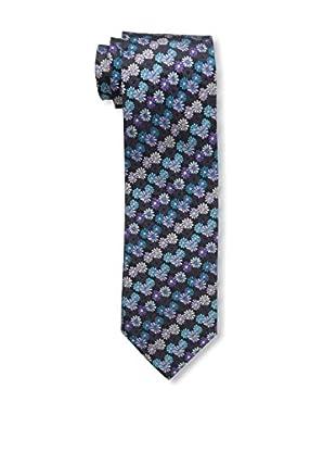 Bruno Piattelli Men's Floral Silk Tie, Plum Teal