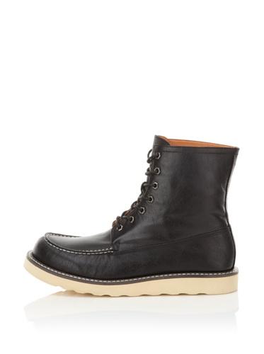 Robert Wayne Men's Drew Ankle Boot (Black)