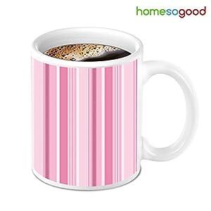 HomeSoGood Light Pink Special With Pattern Coffee Mug