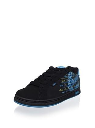 Etnies Women's Fader W Sneaker (Black/Black/Royal)