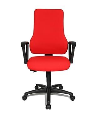 Topstar Bürodrehstuhl Top Point SY inkl. Armlehnen (rot)