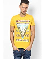 Mustard Yellow Round Neck T-Shirt (Smart Fit)