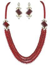 Designer Kundan Multistrands 18k Gold Plated Traditional Jewellery Set For Women by Shining Diva