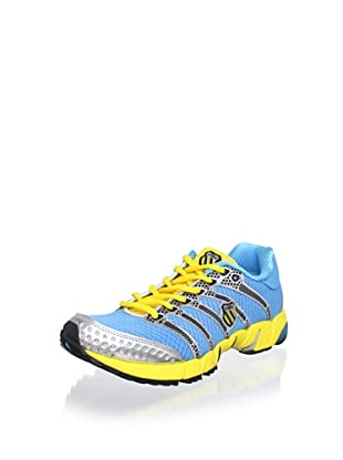 K-SWISS Men's K-Ona R Running Shoe (Neon Blue/Silver/Yellow)
